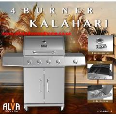 KALAHARI 4 BURNER BBQ W/ SIDE BURNER