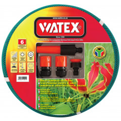 Watex 6 Year Garden Hose Pipe - 12mm x 20m With Fittings