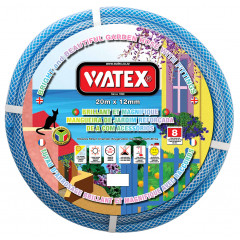 Watex 8 Year Garden Hose Pipe - Blue - 12mm x 20m With Fittings