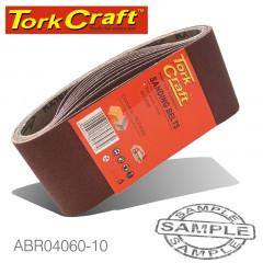 SANDING BELT 65 X 410MM 60 GRIT 10/PACK