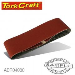SANDING BELT 64 X 406MM 80GRIT 2/PACK