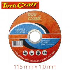 CUTTING DISC STEEL  & SS 115 X 1.0 X 22.2 MM
