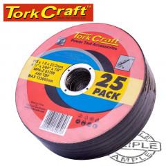 CUTTING DISC STEEL  & SS 115 X 1.0 X 22.2 MM 25 PACK