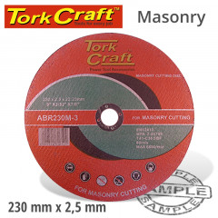 CUTTING DISC MASONRY 230 X 2.5 X 22.22MM