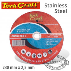 CUTTING DISC STAINLESS STEEL 230 X 2.5 22.22MM