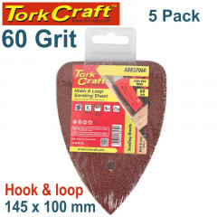 SANDING TRI - 60 GRIT 145 X 145 X 100MM 5/PACK FOR TCMS HOOK AND LOOP