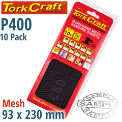DURASAND MESH SANDING SHEET 400GRIT 93 X 230MM 10PC PER PACK