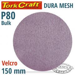 DURA MESH ABR.DISC 150MM HOOK AND LOOP 80GRIT BULK FOR SANDER POLISHER