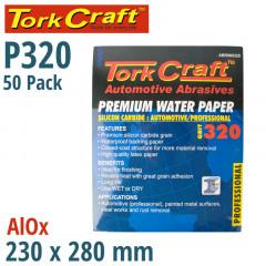 PREMIUM WATERPROOF PAPER  320 GRIT 230  X 280 (50 PIECE) AUTOMOTIVE