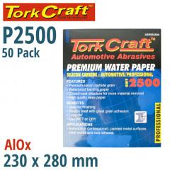 PREMIUM WATERPROOF PAPER  2500 GRIT 230  X 280 (50 PIECE) AUTOMOTIVE
