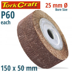 FLAP WHEEL 150 X 50 X 25MM BORE 60 GRIT PER EACH