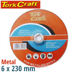 GRINDING DISC FOR STEEL 230 X 6.0 X 22.2MM