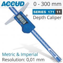 DIGITAL DEPTH GAUGE 0-300MM/0-12'