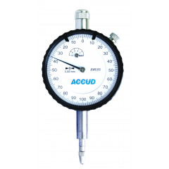 ACCUD DIAL INDICATOR WITH CALIBRATION CERTIFICATE 0-10MM (0.01MM)