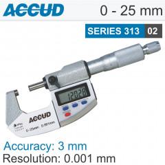 DIGITAL OUTSIDE MICROMETER IP65 0-25MM