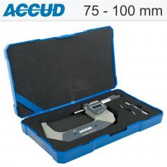 ACCUD DIGITAL OUTSIDE MICROMETER.IP65.75MM-100MM (0.001MM)