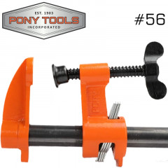 PONY PIPE CLAMP 3/4' BLACK PIPE