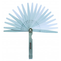 ACCUD FEELER GAUGE LENGTH 100MM (0.05-1.00MM) 20PC