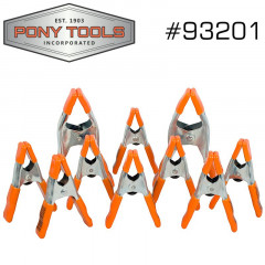 PONY 10PC STEEL SPRING CLAMP SET 8X1' & 2X2'