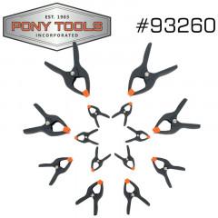PONY 14PC SPRING CLAMP SET 6X3/4' 4X1' 2X2' 2X3'
