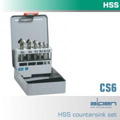 COUNTERSINK SET HSS 6 PIECE