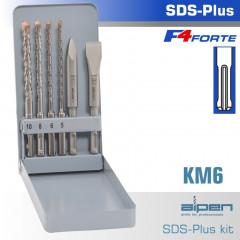 SDS PLUS MIXED SET SDS 5 6 8 10MM X 160-CHISEL-FLAT 20 X 140-POINT 140
