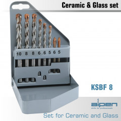 GLASS AND TILE DRILL BIT SET 8 PIECE