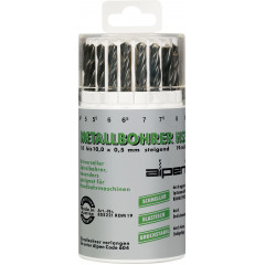 HSS SPRINT DRILL BIT SET 19 PIECE IN ROUND PLASTIC CONTAINER