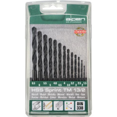 HSS SPRINT DRILL BIT SET 13 PIECE  1.5-6.5 3.2+4.8