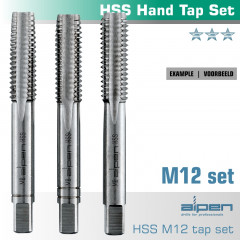 HAND TAP SET IN POUCH M12 HSS 1.75MM PITCH
