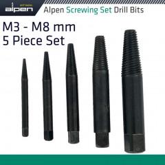 ALPEN SCREWINGSET M3-M8 5PCE