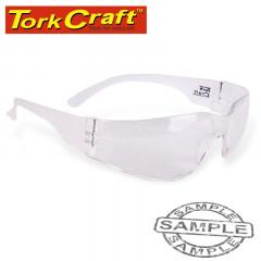 SAFETY EYEWEAR GLASSES CLEAR ERGONOMIC DESIGN IN POLY BAG