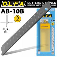 OLFA BLADES AB-10B 10/PACK 9MM