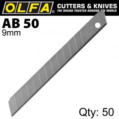 OLFA BLADES AB-50 50/PACK 9MM