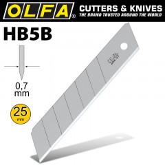 OLFA BLADES HB-5B 5/PACK 25MM