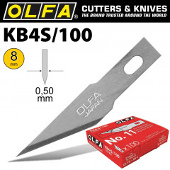 OLFA PRECISION ART BLADE 100 BLADES PER PACK 8MM