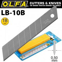 OLFA BLADES LB-10B 10/PACK 18MM