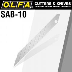 OLFA BLADES FOR SAC1 10/PK BULK SHARPER ANGLED BLADES