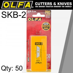 OLFA BLADES SKB-2 50 PACK FOR SK-4 SK-9 UTC1 CUTTERS