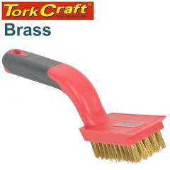 SOFT GRIP WIDE BRASS STRIPPER BRUSH 5 X 11 ROW TCW