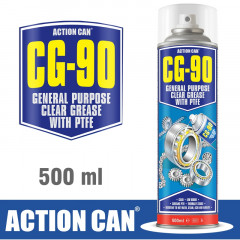 CG-90 500 ML GEN PURPOSE CLEAR GREASE W/PTFE