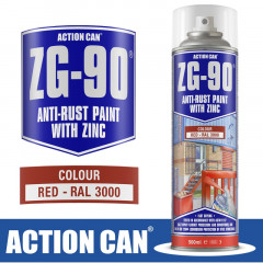 ZG-90 RED 500ML ANTI RUST SPRAY COLD ZINC GALVANISING RAPID DRY