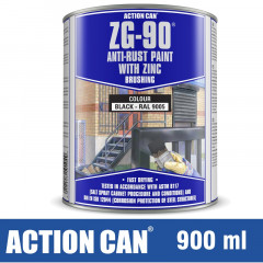 ZG-90 ANTI RUST PAINT BLACK 900ML COLD ZINC GALVANISING RAPID DRY