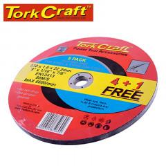 4+1 FREE CUTTING DISC METAL 230X1.6X22.22MM