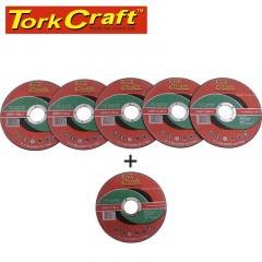 5 + 1 FREE CUTTING DISC FOR MASONRY 115 X 1.0 X 22.2MM