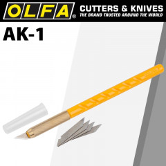 OLFA CUTTER MODEL AK-1 ART KNIFE X25 SPARE BLADES