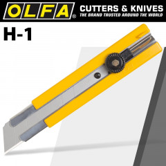 OLFA CUTTER MODEL H-1 EXTRA HEAVY DUTY SNAP OFF KNIFE CUTTER 25MM