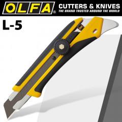 OLFA CUTTER HEAVY DUTY REAR PICK & COMFORT HANDLE SNAP OFF KNIFE 18MM