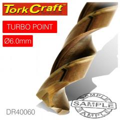 DRILL BIT HSS TURBO POINT 6.0MM 1/CARD