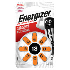 ENERGIZER HEARING AID BATTERY AZ13 ORANGE 4 PACK (MOQ 6)